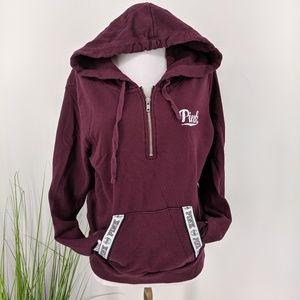 Vs pink half zip up pull over sweater